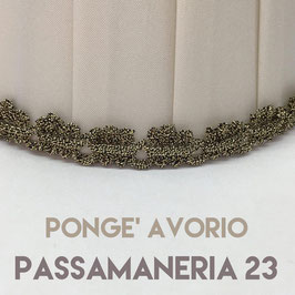 CONO PLISSE' PONGE' AVORIO CON PASSAMANERIA 23
