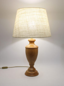 Abat-Jour h.60 cm Ginevra in legno naturale con paralume Impero Juta