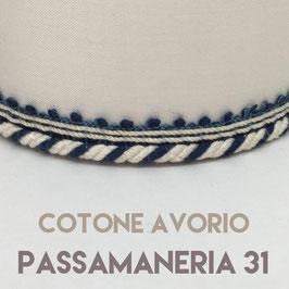 VENTOLA SAGOMATA COTONE AVORIO PASSAMANERIA 31