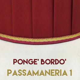 IMPERO PLISSE' PONGE' BORDO' CON PASSAMANERIA 1