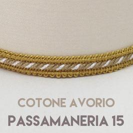 CONO PVC COTONE AVORIO CON PASSAMANERIA 15