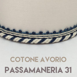 CONO PVC COTONE AVORIO CON PASSAMANERIA 31
