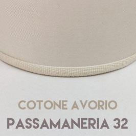 IMPERO PVC COTONE AVORIO CON PASSAMANERIA 32