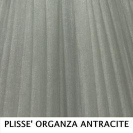 CONO PLISSE' SENZA PASSAMANERIA ORGANZA ARGENTO