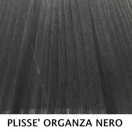 CONO PLISSE' SENZA PASSAMANERIA ORGANZA NERO