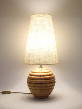 Abat-Jour h.52 cm Sfera in legno Naturale con paralume Long Juta