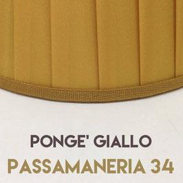 IMPERO PLISSE' PONGE' GIALLO CON PASSAMANERIA 34