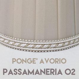 IMPERO PLISSE' PONGE' AVORIO CON PASSAMANERIA 02