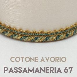 CONO PVC COTONE AVORIO CON PASSAMANERIA 67