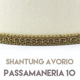 VENTOLA SAGOMATA SHANTUNG AVORIO PASSAMANERIA 10