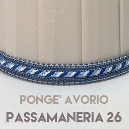 CONO PLISSE' PONGE' AVORIO CON PASSAMANERIA 26