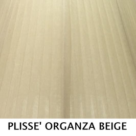 IMPERO PLISSE' ORGANZA BEIGE SENZA PASSAMANERIA