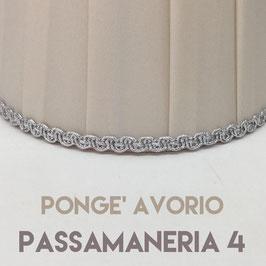 CONO PLISSE' PONGE' AVORIO CON PASSAMANERIA 4