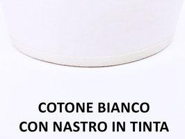 APPLIQUE LUNA COTONE BIANCO CON NASTRO BIANCO