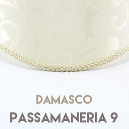 VENTOLA ANTIQUARIO TESSUTO DAMASCO CON PASSAMANERIA 9