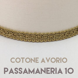 VENTOLA SAGOMATA COTONE AVORIO PASSAMANERIA 10
