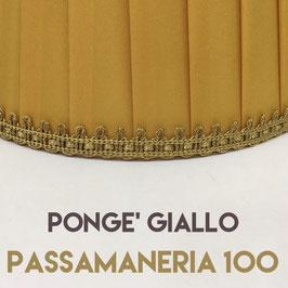 IMPERO PLISSE' PONGE' GIALLO CON PASSAMANERIA 100