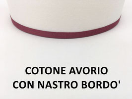 APPLIQUE MILANO COTONE AVORIO CON NASTRO BORDO'