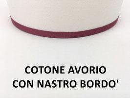 APPLIQUE MILANO COTONE AVORIO CON NASTRO BORDO'