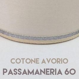IMPERO PVC COTONE AVORIO CON PASSAMANERIA 60