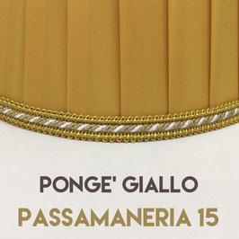 IMPERO PLISSE' PONGE' GIALLO CON PASSAMANERIA 15