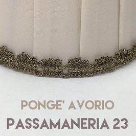IMPERO PLISSE' PONGE' AVORIO CON PASSAMANERIA 23