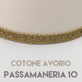 IMPERO PVC COTONE AVORIO CON PASSAMANERIA 10