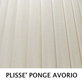 CONO PLISSE' SENZA PASSAMANERIA PONGE' AVORIO