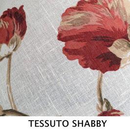 LAMPADARIO CILINDRO SEMPLICE TESSUTO SHABBY