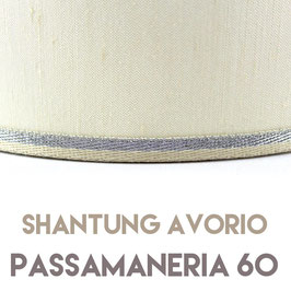 VENTOLA SAGOMATA SHANTUNG AVORIO PASSAMANERIA 60