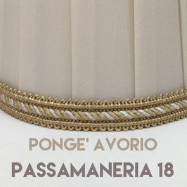 CONO PLISSE' PONGE' AVORIO CON PASSAMANERIA 18