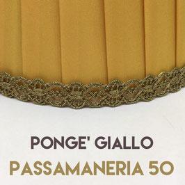 IMPERO PLISSE' PONGE' GIALLO CON PASSAMANERIA 50