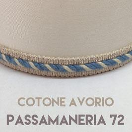 CONO PVC COTONE AVORIO CON PASSAMANERIA 72