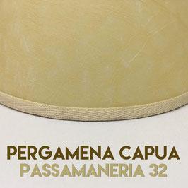 VENTOLA ANTIQUARIO PERGAMENA CAPUA CON PASSAMANERIA 32