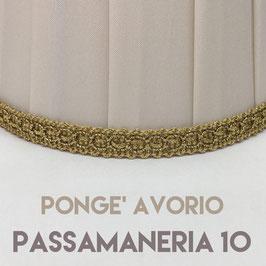 CONO PLISSE' PONGE' AVORIO CON PASSAMANERIA 10