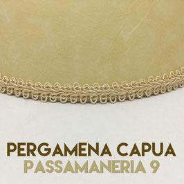 VENTOLA SAGOMATA PERGAMENA CAPUA CON PASSAMANERIA 9
