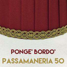 IMPERO PLISSE' PONGE' BORDO' CON PASSAMANERIA 50