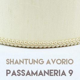 VENTOLA SAGOMATA SHANTUNG AVORIO PASSAMANERIA 9