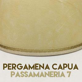 VENTOLA ANTIQUARIO PERGAMENA CAPUA CON PASSAMANERIA 10