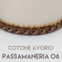 CONO PVC COTONE AVORIO CON PASSAMANERIA 06