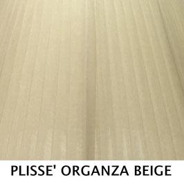 CONO PLISSE' SENZA PASSAMANERIA ORGANZA BEIGE