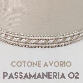 CONO PVC COTONE AVORIO CON PASSAMANERIA 02