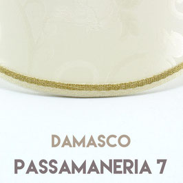 VENTOLA ANTIQUARIO TESSUTO DAMASCO CON PASSAMANERIA 7