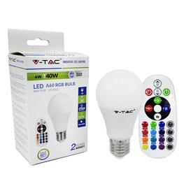 Lampadina Multicolore RGB E27 6 Watt + Telecomando