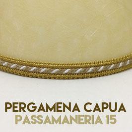 VENTOLA CARTELLA PERGAMENA CAPUA CON PASSAMANERIA 15