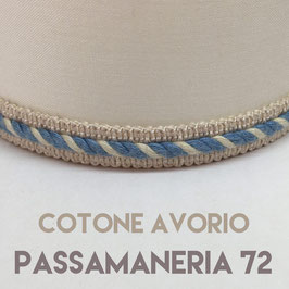IMPERO PVC COTONE AVORIO CON PASSAMANERIA 72