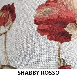Paralume Ovale Shabby Rosso
