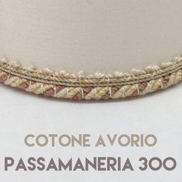 CONO PVC COTONE AVORIO CON PASSAMANERIA 300