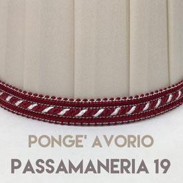 IMPERO PLISSE' PONGE' AVORIO CON PASSAMANERIA 19