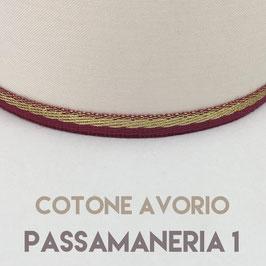 CONO PVC COTONE AVORIO CON PASSAMANERIA 1
